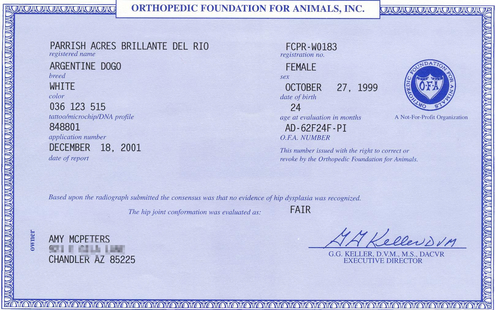 Health Certificates